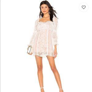 FOR LOVE AND LEMONS WHITE LONGSLEEVE DRESS
